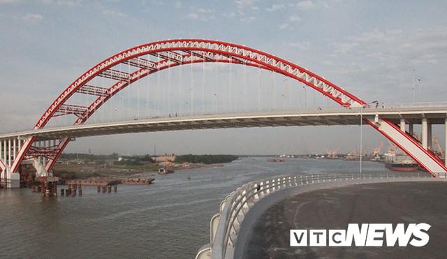 Cận cảnh cây cầu độc đáo hình cánh chim biển sắp thông xe ở Hải Phòng - Ảnh 6.