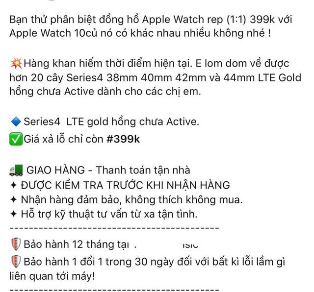 Apple Watch xuất hiện nhan nhản trên thị trường với giá chưa tới 500.000 đồng - Ảnh 2.