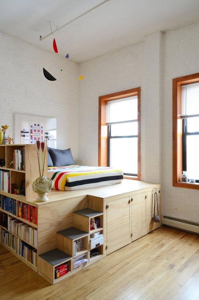 Những kiểu giường đột phá về thiết kế và sự tiện dụng cho phòng ngủ tý hon - Ảnh 2.