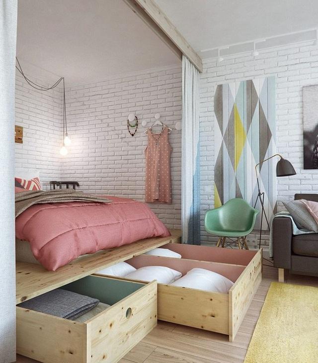 Những kiểu giường đột phá về thiết kế và sự tiện dụng cho phòng ngủ tý hon - Ảnh 4.