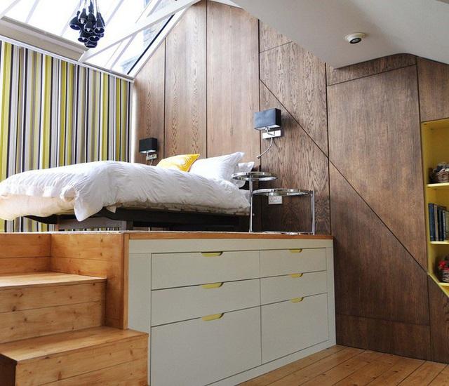 Những kiểu giường đột phá về thiết kế và sự tiện dụng cho phòng ngủ tý hon - Ảnh 7.