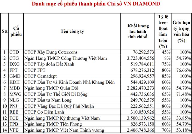 HoSE chính thức công bố danh mục bộ chỉ số VN Diamond và VNFin Select - Ảnh 1.