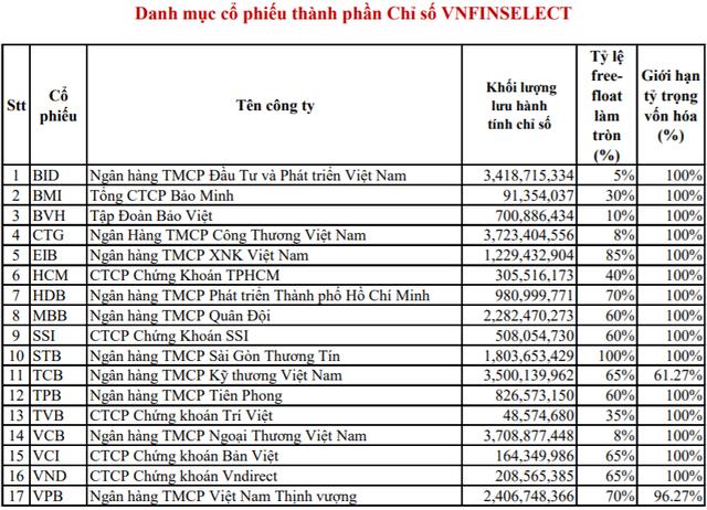 HoSE chính thức công bố danh mục bộ chỉ số VN Diamond và VNFin Select - Ảnh 2.