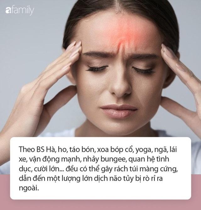 Người phụ nữ 29 tuổi đột nhiên bị rò rỉ dịch não, bác sĩ nhắc nhở: Ho, cười, tập yoga cũng có thể gây bệnh - Ảnh 3.