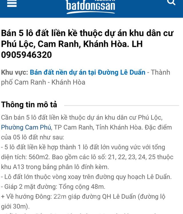 Khu dân cư hơn 33ha xây dựng không phép ở Khánh Hòa - Ảnh 2.