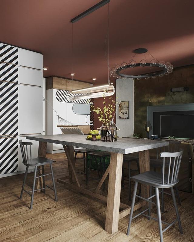 Vẻ đẹp khác lạ của căn chung cư có cách trang trí không giống ai - Ảnh 3.