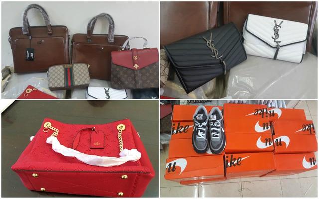 Bắt giữ hàng trăm túi xách, ví da hàng hiệu Louis Vuitton, Dior, Gucci... nghi giả mạo nhãn hiệu - Ảnh 1.