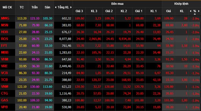 Dòng tiền bắt đáy nhập cuộc không cứu nổi thị trường, VnIndex mất 8 điểm cuối phiên - Ảnh 1.