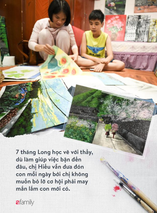 Cậu bé tự kỷ 14 tuổi mê tranh Van Gogh với bức tranh được đấu giá trăm triệu: Con sẽ trở thành họa sĩ nổi tiếng, sẽ mua nhà và cho mẹ đi du lịch - Ảnh 17.