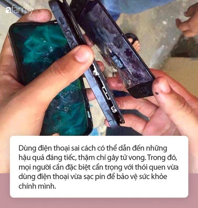 Đã có rất nhiều vụ tai nạn thương tâm khi vừa dùng điện thoại vừa sạc nhưng vô số người vẫn chủ quan! - Ảnh 2.