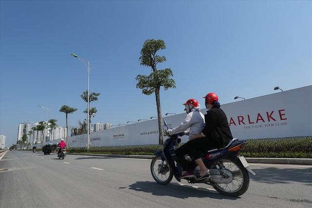 Cận cảnh hàng cây hoa sữa đang độ nở trên con đường mới mở của Thủ đô - Ảnh 7.