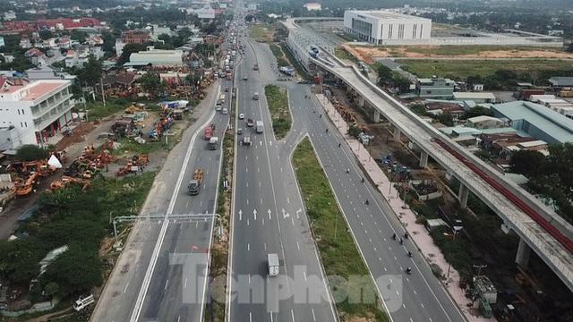 Nhìn từ trên cao nút giao thông cửa ngõ phía Đông Sài Gòn vừa thông xe - Ảnh 5.