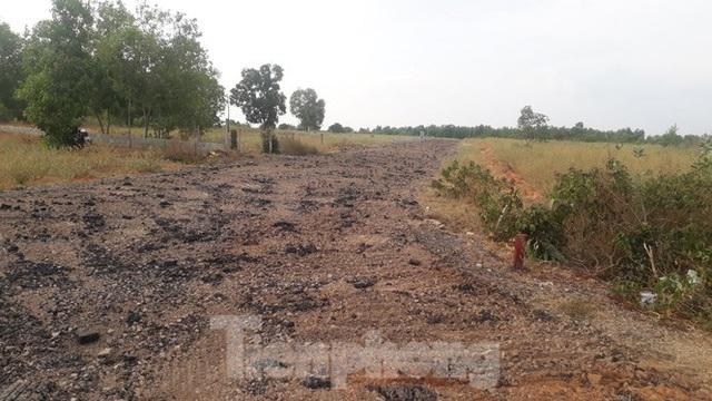 Dân tự ý làm đường nhựa trên đất nông nghiệp để phân lô bán nền ở Phan Thiết - Ảnh 2.