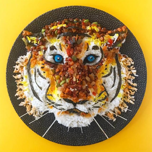 Cô gái tạo ra cả một sở thú bằng đồ ăn, ai nhìn vào cũng thòm thèm nhưng không nỡ động tay vì quá đẹp  - Ảnh 8.