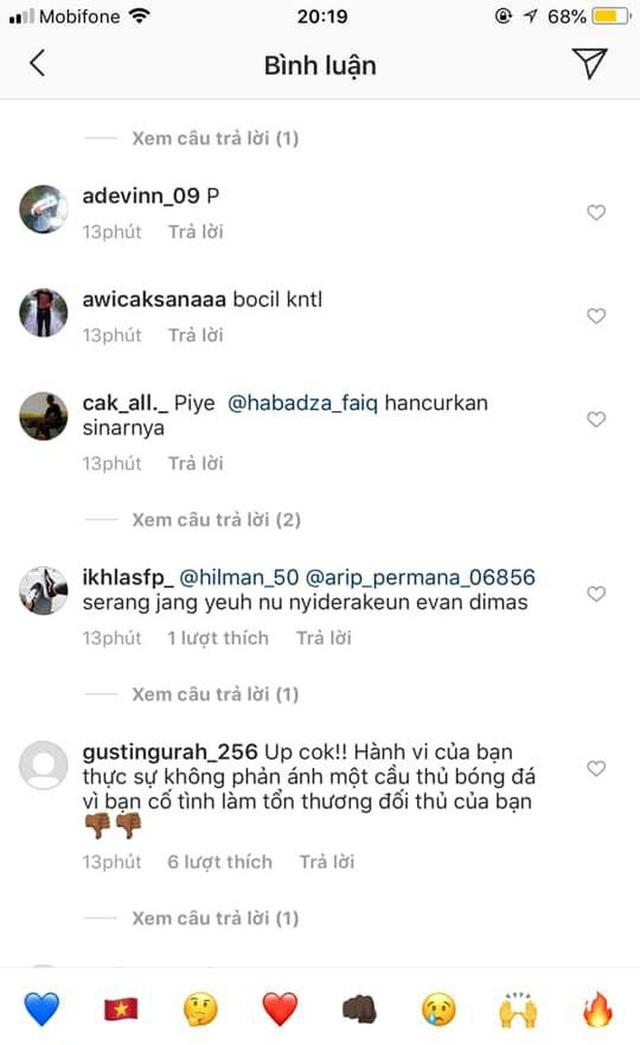 Cay cú vì cầu thủ con cưng bị chấn thương, fan Indonesia tràn vào trang của Đoàn Văn Hậu buông lời chỉ trích, sỉ nhục - Ảnh 8.