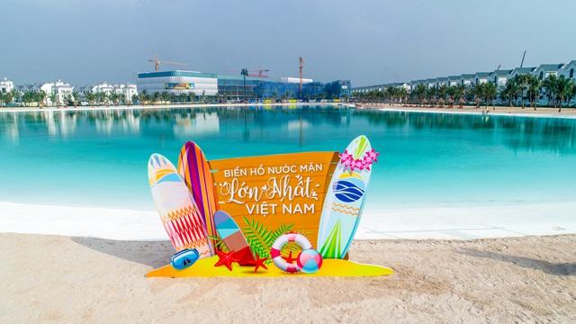 Cận cảnh khu đô thị tại Hà Nội có biển hồ nước mặn và hồ nước ngọt nhân tạo trải cát trắng lớn nhất thế giới - Ảnh 16.