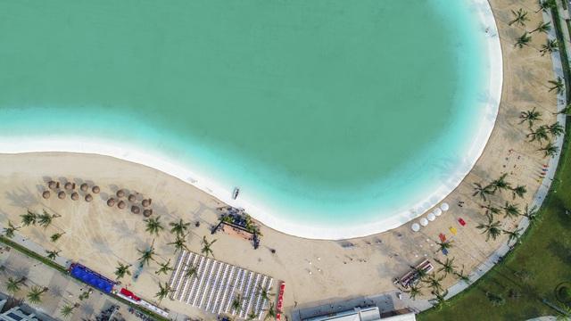 Cận cảnh khu đô thị tại Hà Nội có biển hồ nước mặn và hồ nước ngọt nhân tạo trải cát trắng lớn nhất thế giới - Ảnh 10.