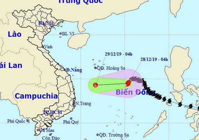 Bão số 8 đang suy yếu nhanh trên Biển Đông - Ảnh 1.