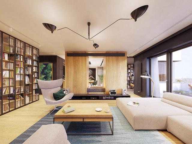 Chiêm ngưỡng căn hộ thiết kế ngẫu hứng đẹp cuốn hút - Ảnh 2.