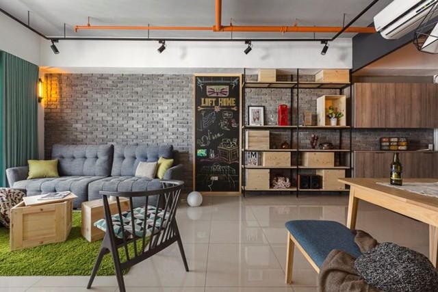 Căn hộ 100 m2 mang phong cách công nghiệp tươi sáng - Ảnh 1.