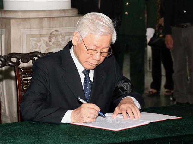 Lễ tang cấp Nhà nước nguyên Phó Chủ tịch Quốc hội Nguyễn Phúc Thanh  - Ảnh 4.