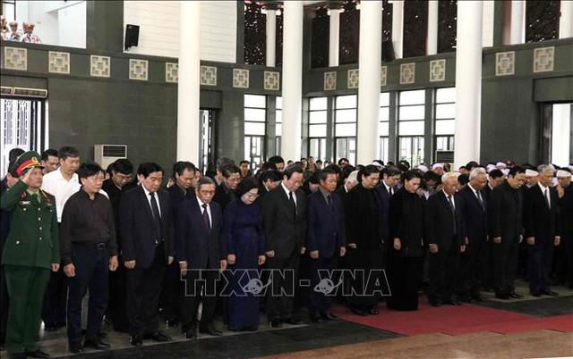 Lễ tang cấp Nhà nước nguyên Phó Chủ tịch Quốc hội Nguyễn Phúc Thanh  - Ảnh 6.