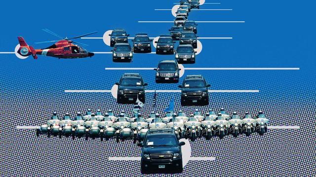 Choáng ngợp trước sự chặt chẽ và lợi hại khó tin của đoàn siêu xe hộ tống tổng thống Mỹ - Ảnh 1.