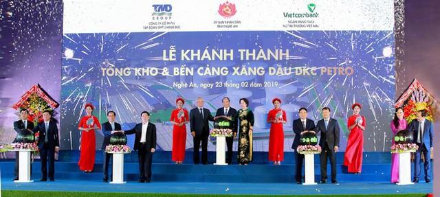 Khánh thành Tổng kho và bến cảng xăng dầu DKC Petro do Vietcombank tài trợ vốn - Ảnh 1.