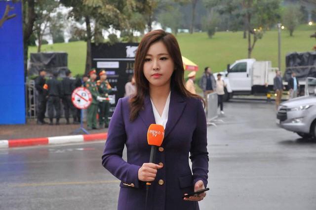 Nữ phóng viên Hàn gây sốt mạng xã hội Việt: Xinh đẹp tài năng, từng thi Hoa hậu - Ảnh 1.
