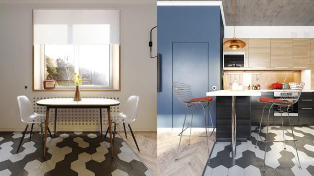 Căn hộ màu xanh dương hiện đại và ấm áp - Ảnh 4.