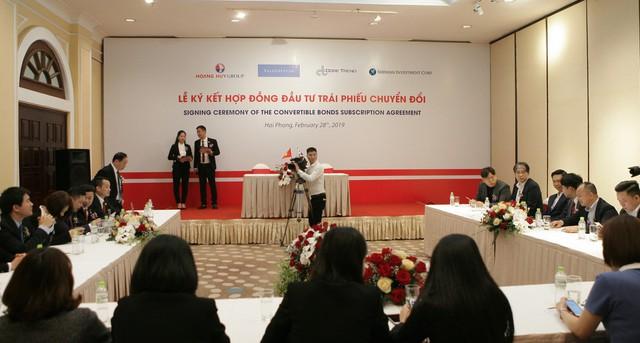 Tài chính Hoàng Huy (TCH) phát hành 50 triệu USD trái phiếu chuyển đổi cho Shinhan Investment, CoreTrend Investment và ValueSystem - Ảnh 1.