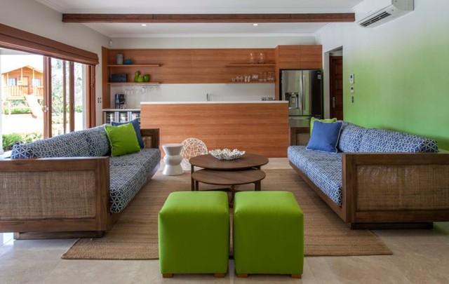 Phòng khách có màu xanh lá cây tạo cảm giác gần gũi với thiên nhiên - Ảnh 7.