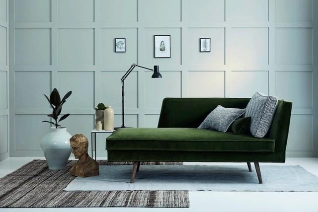 Phòng khách có màu xanh lá cây tạo cảm giác gần gũi với thiên nhiên - Ảnh 8.