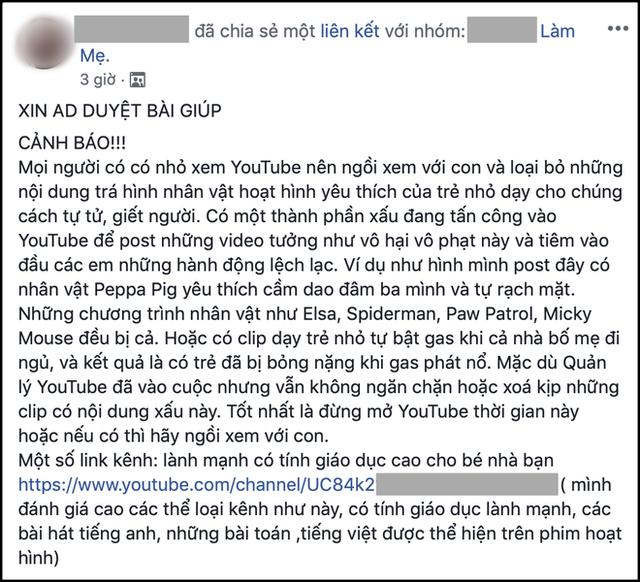 Bố mẹ Việt bất an, liên tục kêu gọi cảnh giác khi Thử thách Momo quá đáng sợ xuất hiện trong các video hoạt hình quen thuộc của con - Ảnh 4.