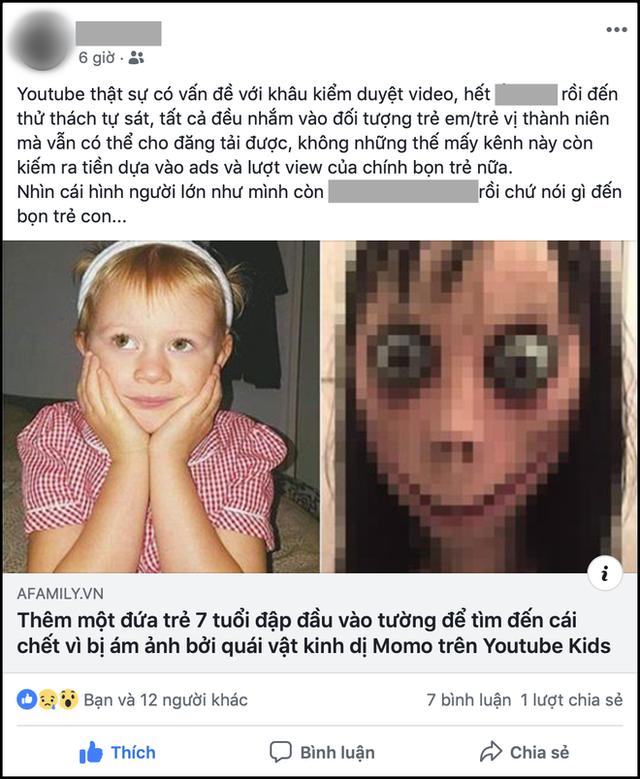 Bố mẹ Việt bất an, liên tục kêu gọi cảnh giác khi Thử thách Momo quá đáng sợ xuất hiện trong các video hoạt hình quen thuộc của con - Ảnh 5.