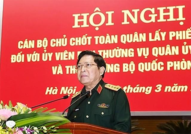 Lấy phiếu tín nhiệm các Ủy viên Thường vụ Quân ủy Trung ương và Thứ trưởng Quốc phòng - Ảnh 1.