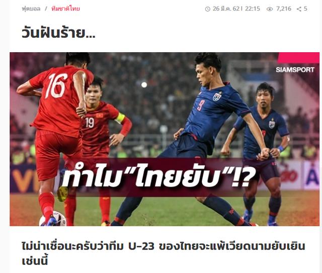 Báo Thái Lan: Ác mộng! Thật không thể tin nổi chúng ta lại thua Việt Nam với tỷ số đậm đến vậy - Ảnh 2.