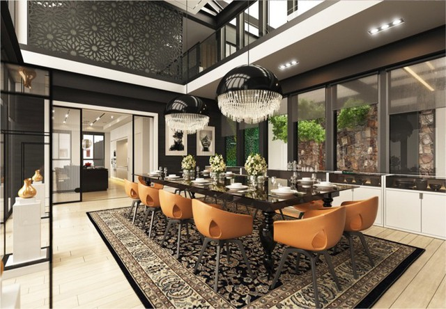 Phòng ăn có phong cách đan xen truyền thống và hiện đại - Ảnh 3.