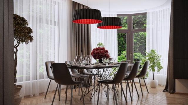 Phòng ăn có phong cách đan xen truyền thống và hiện đại - Ảnh 7.