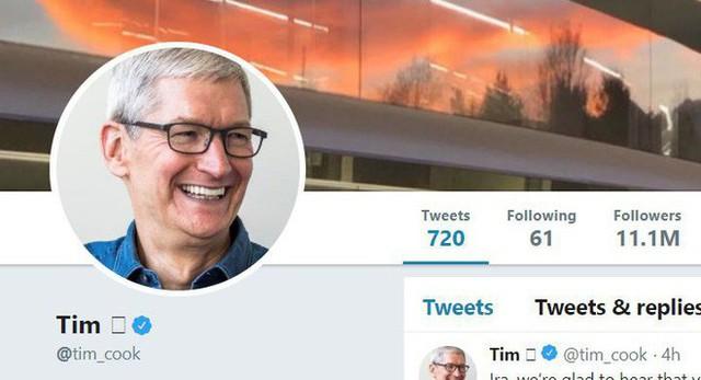 CEO Apple Tim Cook đổi tên Twitter thành Tim Apple sau khi bị Tổng thống Mỹ Donald Trump gọi nhầm - Ảnh 1.