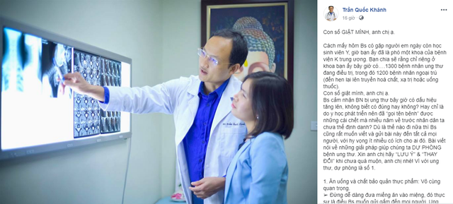 Bác sĩ bệnh viện Việt Đức tiết lộ 8 điều ai cũng có thể làm để cứu mình khỏi tử thần: Con số bệnh nhân ung thư đáng giật mình, các anh chị ạ!  - Ảnh 1.