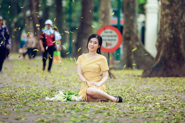 Phố phường Hà Nội đẹp nao lòng mùa lá rụng - Ảnh 5.
