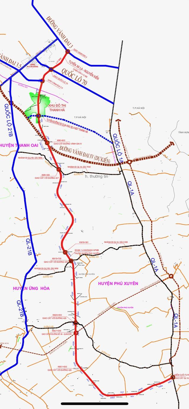 Toàn cảnh tuyến đường nối vào KĐT Mường Thanh Thanh Hà sắp hoàn thành - Ảnh 1.