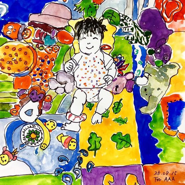 Gia đình sống tứ xứ, vợ chồng cụ ông vẽ hàng nghìn bức tranh kể chuyện cho con cháu trên Instagram làm lay động MXH - Ảnh 4.