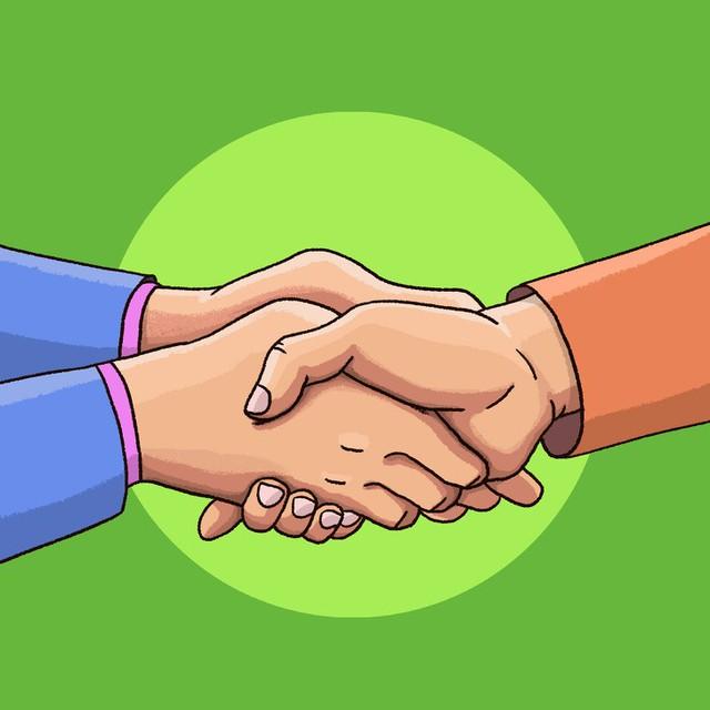 Đọc vị tính cách người đối diện qua 6 kiểu bắt tay: Những quy tắc ngầm trong nghệ thuật giao tiếp - Ảnh 1.