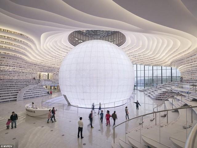Choáng ngợp với vẻ đẹp của thư viện quốc dân lớn nhất Trung Quốc: Hoành tráng đến mức nhìn không thua gì phim trường! - Ảnh 11.