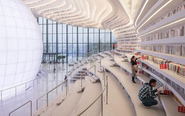 Choáng ngợp với vẻ đẹp của thư viện quốc dân lớn nhất Trung Quốc: Hoành tráng đến mức nhìn không thua gì phim trường! - Ảnh 6.