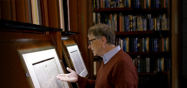 Nổi tiếng là tỷ phú sống giản dị nhưng 25 năm trước Bill Gates đã mạnh tay chi 30 triệu USD chỉ để mua một cuốn sách vì lý do đặc biệt này  - Ảnh 2.