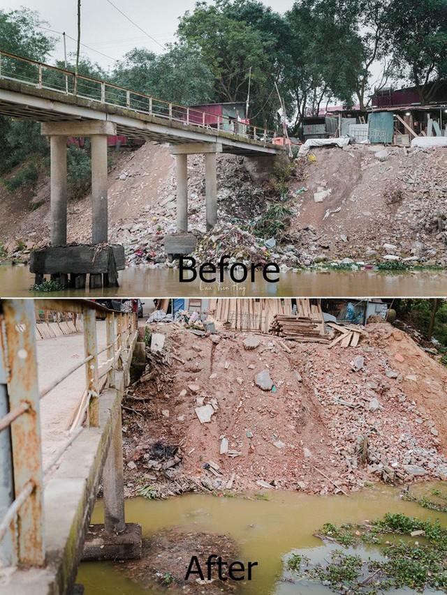 Chuyện đau đầu của Thử thách dọn rác: Bục mặt 4 tiếng dọn sạch chân cầu Xuân Lai, đến chiều người dân lại... vứt rác - Ảnh 5.