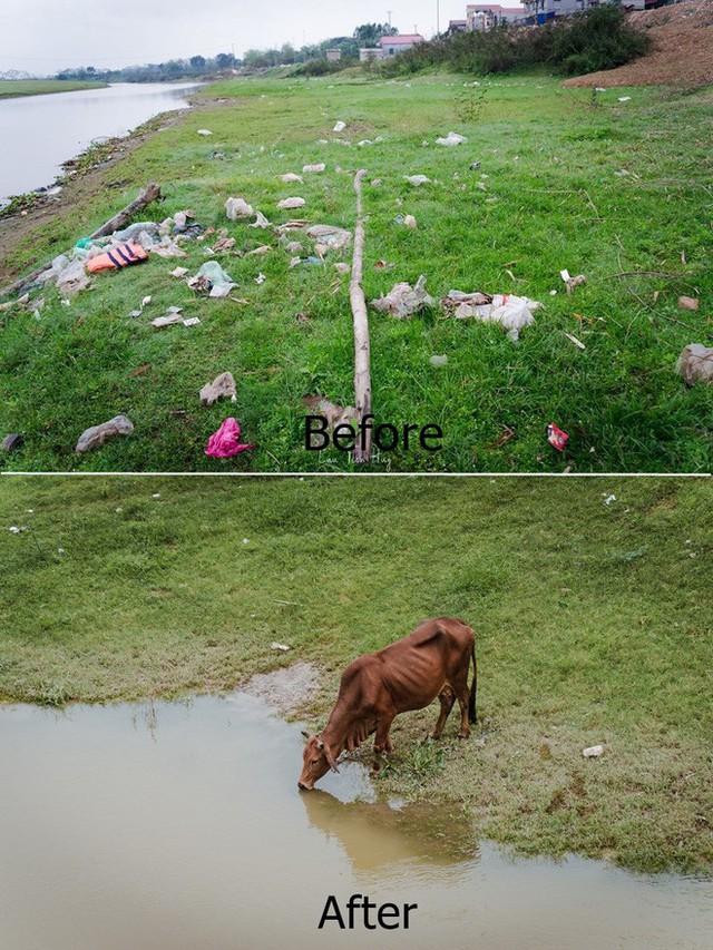 Chuyện đau đầu của Thử thách dọn rác: Bục mặt 4 tiếng dọn sạch chân cầu Xuân Lai, đến chiều người dân lại... vứt rác - Ảnh 6.